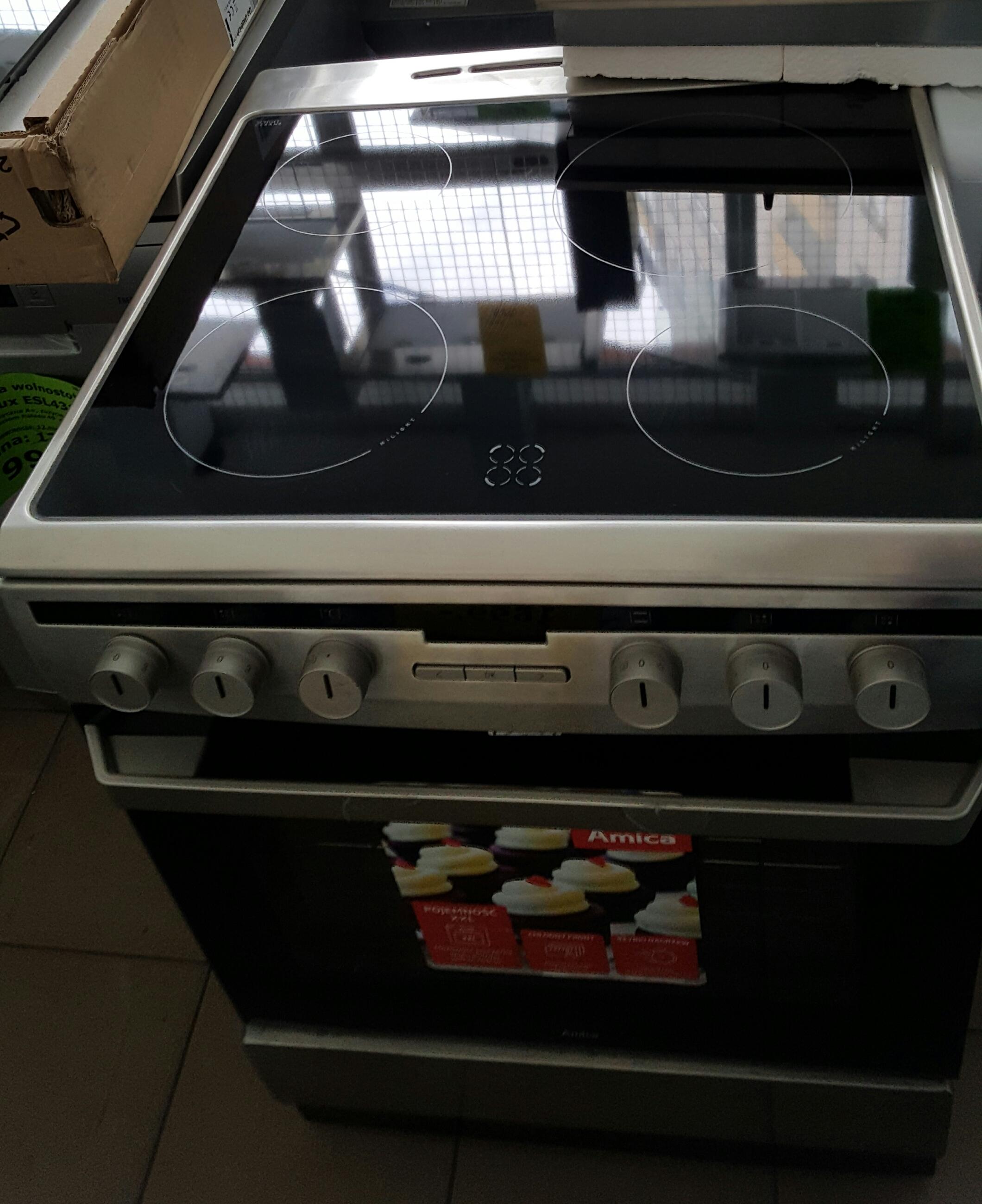 Kuchnia elektryczna ceramiczna Amica 618CE3 333HTAQ(XX)  Ekspert Serwis -> Kuchnia Elektryczna Amica Z Plytą Ceramiczną Używana