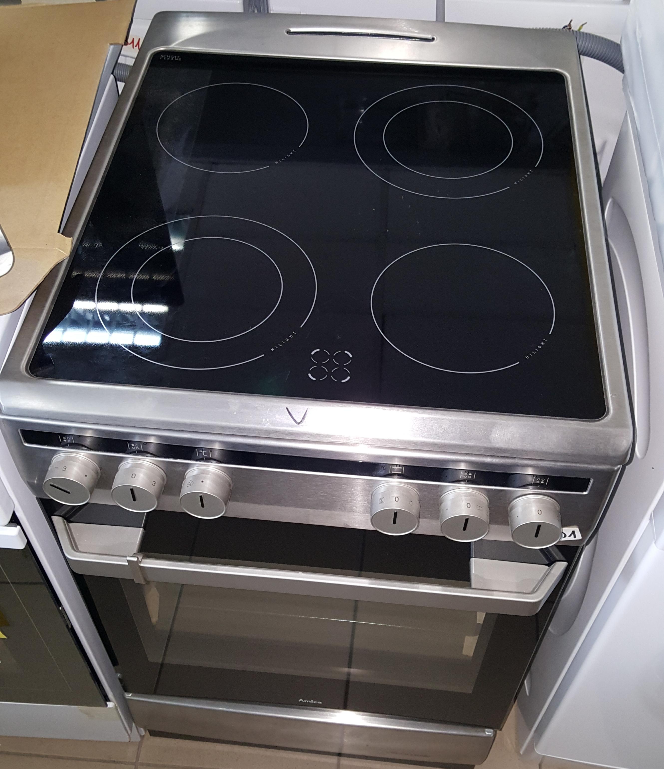 Kuchnia elektryczna z płytą ceramiczną Amica 58CE2 315HQ(XX)  Ekspert Serwis -> Kuchnia Elektryczna Amica Z Plytą Ceramiczną Używana