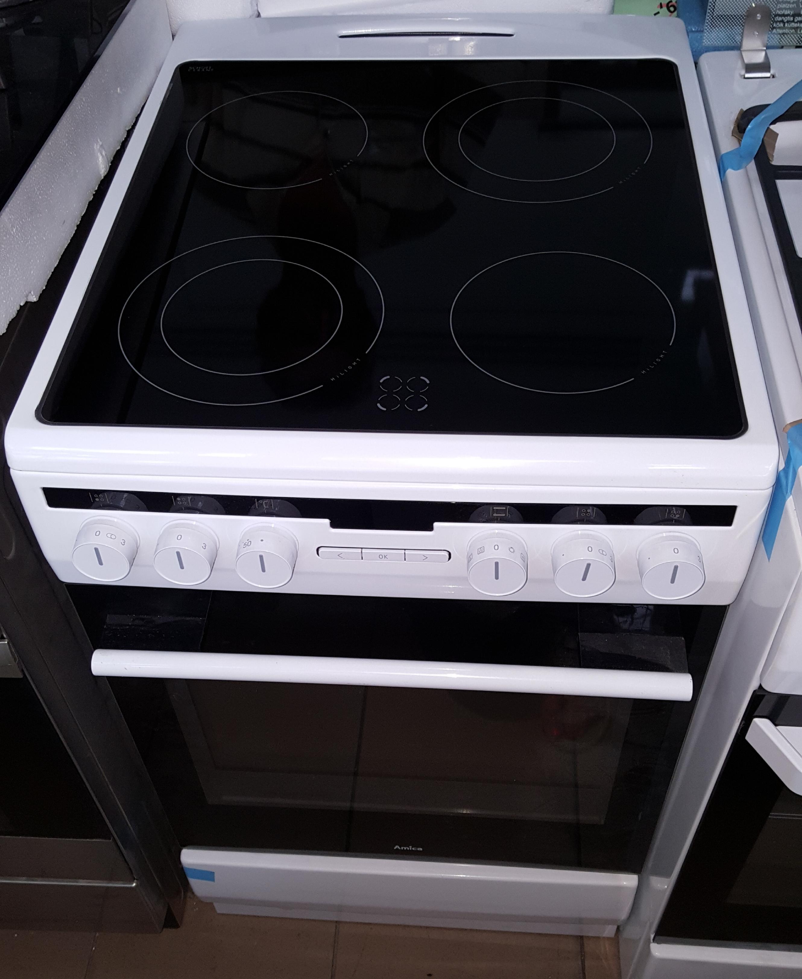 Kuchnia elektryczna z płytą ceramiczną Amica 58CE3 315HTAQ(W)  Ekspert Serwis