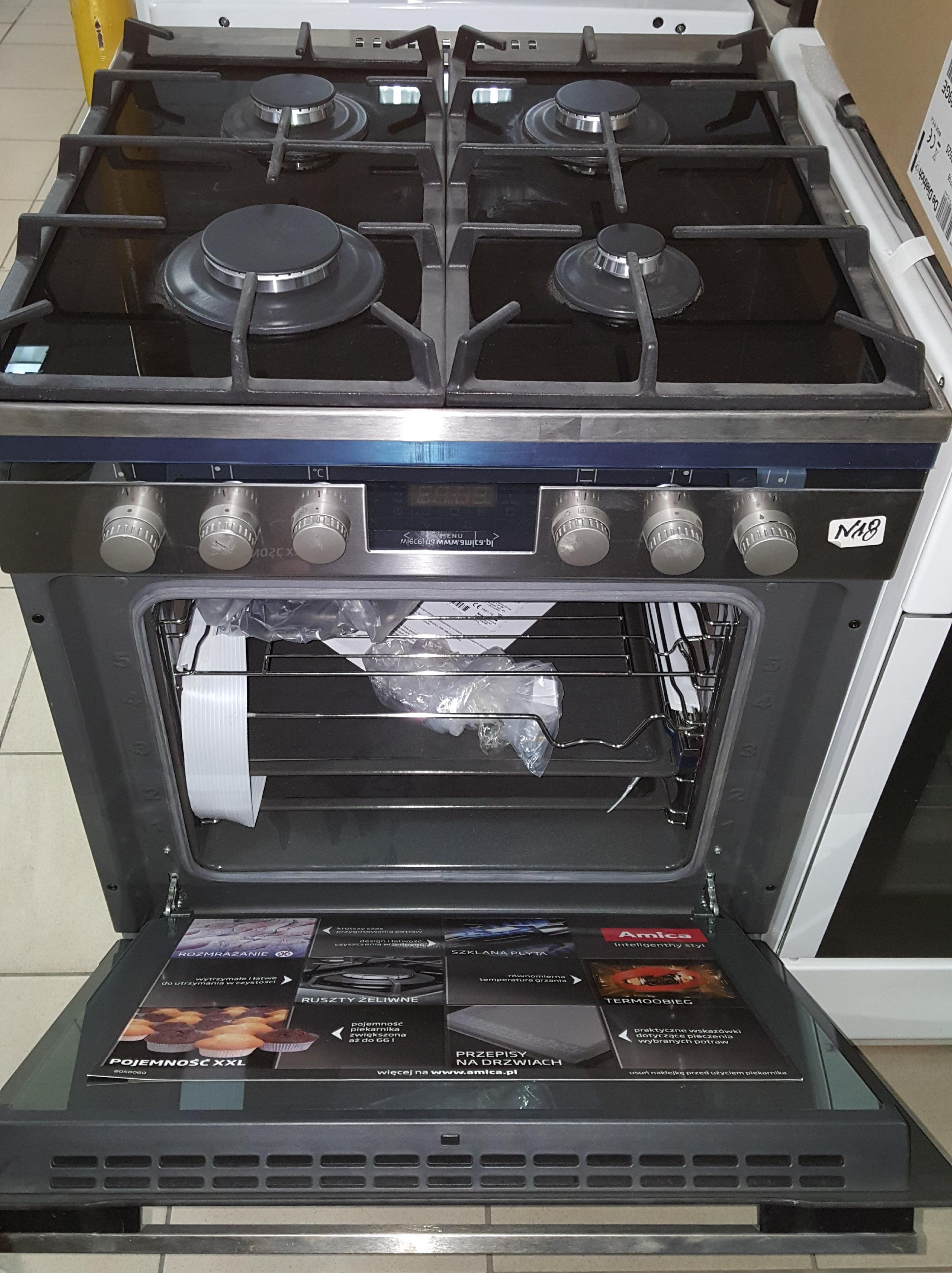 Kuchnie gazowo elektryczne amica